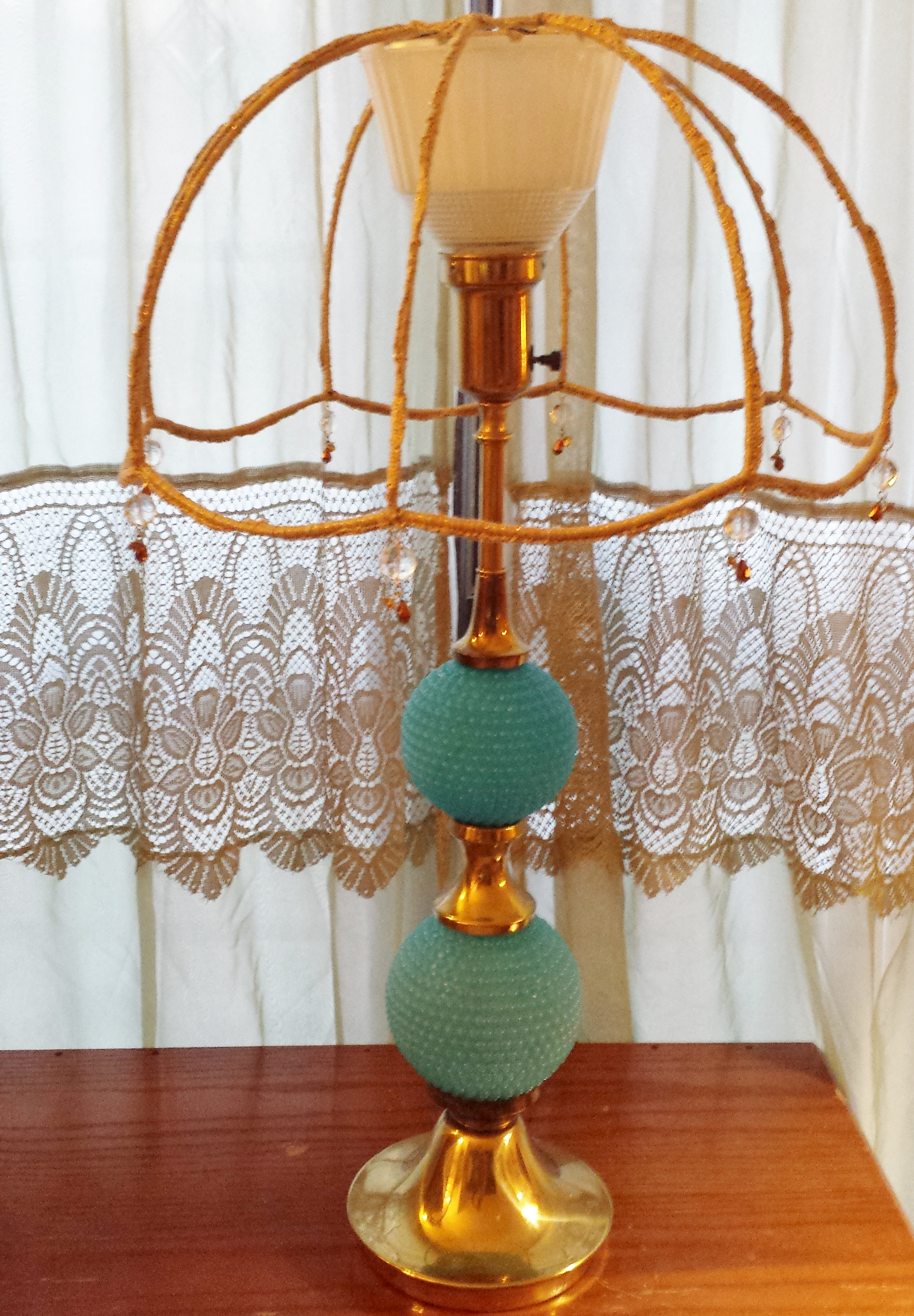 Up Cycle A Lamp Shade In Crochet Glitz And Glam